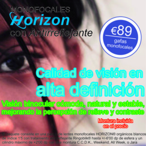 pack lentes monofocales horizon marketplace