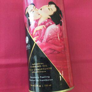 Aceite Afrodisíaco sabor a Frambuesa.