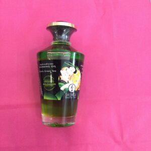 Aceite afrodrisiaco para lamer con sabor a te verde.